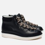 Ботинки Fracap M129 Scarponcini Suede Black/Gloxy White фото- 2
