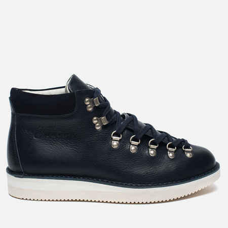 Fracap M129 Scarponcini Suede Shoes Navy/Gloxy White