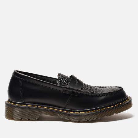 Ботинки лоферы Dr. Martens x Stussy Penton New Vibrance Croco Black Smooth