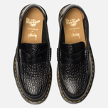 Ботинки лоферы Dr. Martens x Stussy Penton New Vibrance Croco Black Smooth фото- 4