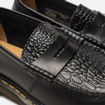 Ботинки лоферы Dr. Martens x Stussy Penton New Vibrance Croco Black Smooth фото- 3