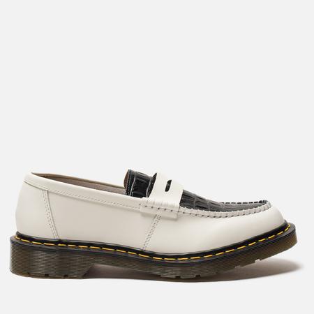 Ботинки лоферы Dr. Martens x Stussy Penton New Vibrance Croco White/Black Smooth