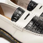 Ботинки лоферы Dr. Martens x Stussy Penton New Vibrance Croco White/Black Smooth фото- 3