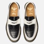 Ботинки лоферы Dr. Martens x Stussy Penton New Vibrance Croco White/Black Smooth фото- 4