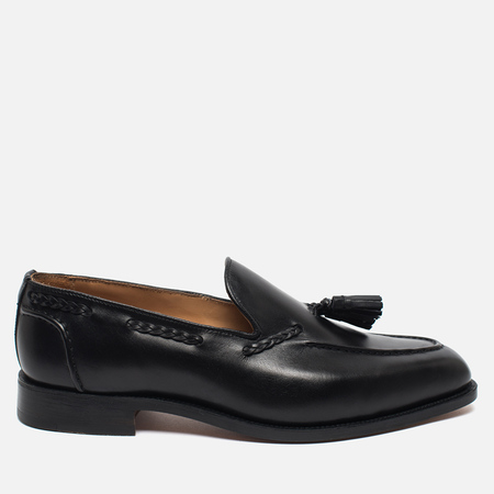 Мужские ботинки лоферы Tricker's Loafer Sloane Black Calf