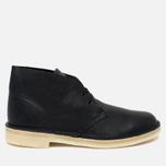 Мужские ботинки Clarks Originals Desert Boot Black Tumbled Leather фото- 0