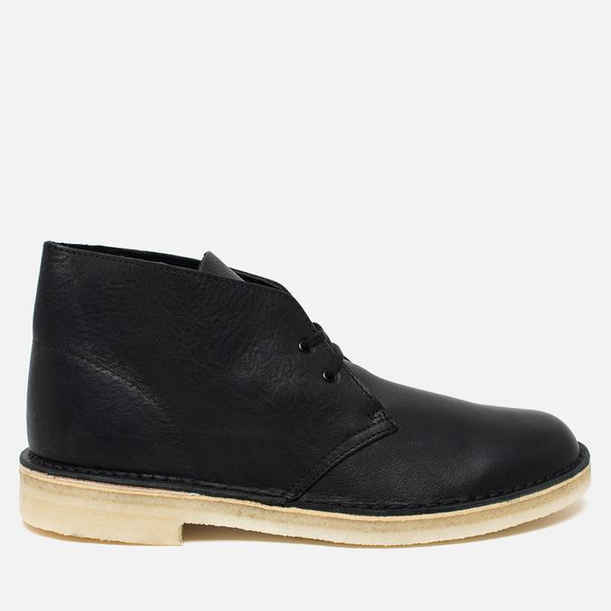 Мужские ботинки Clarks Originals Desert Boot Black Tumbled Leather