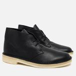 Мужские ботинки Clarks Originals Desert Boot Black Tumbled Leather фото- 1