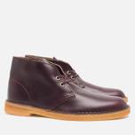 Мужские ботинки Clarks Originals Desert Boot Wine Leather фото- 1