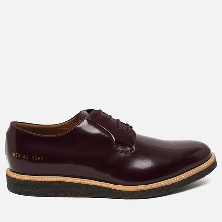 Мужские ботинки Common Projects Derby Shine Bordeaux