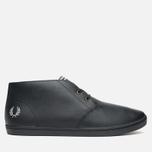 Мужские ботинки Fred Perry Byron Mid Leather Black фото- 0