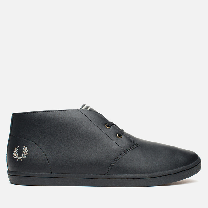 Fred Perry Byron Mid Leather Men's Shoes Black