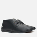 Fred Perry Byron Mid Leather Men's Shoes Black photo- 1