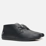 Мужские ботинки Fred Perry Byron Mid Leather Black фото- 1