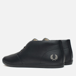Fred Perry Byron Mid Leather Men's Shoes Black photo- 2