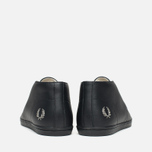 Fred Perry Byron Mid Leather Men's Shoes Black photo- 3