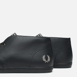 Fred Perry Byron Mid Leather Men's Shoes Black photo- 5