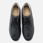 Fred Perry Byron Mid Leather Men's Shoes Black photo- 4