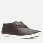 Мужские ботинки Fred Perry Byron Mid Leather Dark Chocolate фото- 1