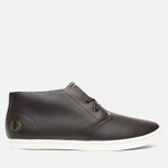 Мужские ботинки Fred Perry Byron Mid Leather Dark Chocolate фото- 0