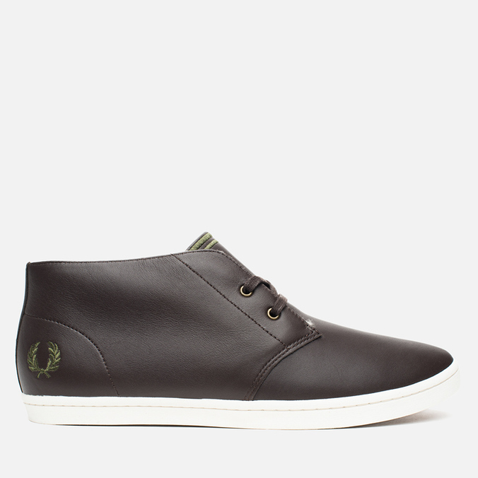 Мужские ботинки Fred Perry Byron Mid Leather Dark Chocolate