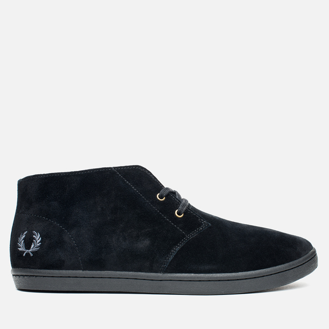 Мужские ботинки Fred Perry Byron Mid Suede Black