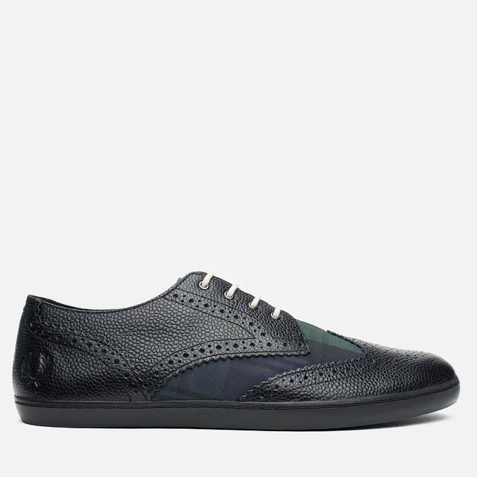 Мужские ботинки Fred Perry Ealing Scotchgrain Leather Millerain Black