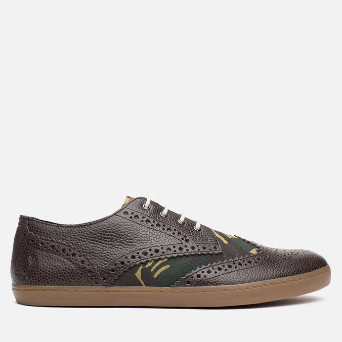 Мужские ботинки Fred Perry Ealing Scotchgrain Millerain Dark Chocolate