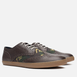 Мужские ботинки Fred Perry Ealing Scotchgrain Millerain Dark Chocolate фото- 1