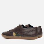Мужские ботинки Fred Perry Ealing Scotchgrain Millerain Dark Chocolate фото- 2