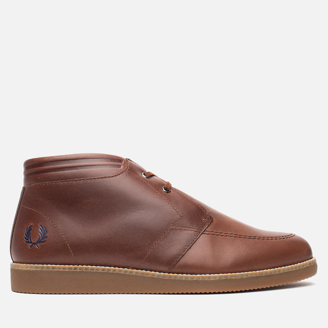 Fred Perry Southall Mid Leather Men's Shoes Chesnut