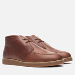 Fred Perry Southall Mid Leather Men's Shoes Chesnut photo- 1
