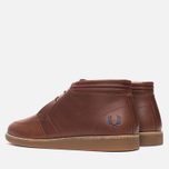 Fred Perry Southall Mid Leather Men's Shoes Chesnut photo- 2