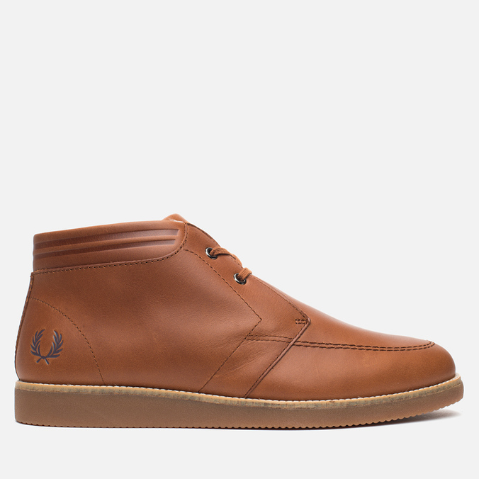 Fred Perry Southall Mid Leather Men's Shoes Tan