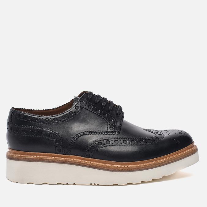 Мужские ботинки броги Grenson Archie Brogue Sole Rubber Black