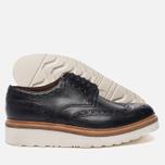 Мужские ботинки броги Grenson Archie Brogue Sole Rubber Black фото- 2