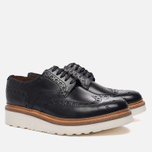 Мужские ботинки броги Grenson Archie Brogue Sole Rubber Black фото- 1