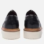 Мужские ботинки броги Grenson Archie Brogue Sole Rubber Black фото- 4