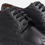 Мужские ботинки броги Grenson Archie Brogue Sole Rubber Black фото- 5