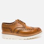 Мужские ботинки броги Grenson Archie Brogue Sole Rubber Tan фото- 0