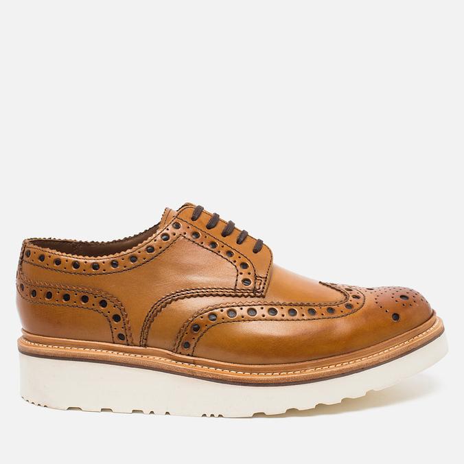 Мужские ботинки броги Grenson Archie Brogue Sole Rubber Tan