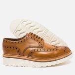 Мужские ботинки броги Grenson Archie Brogue Sole Rubber Tan фото- 2