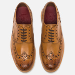 Мужские ботинки броги Grenson Archie Brogue Sole Rubber Tan фото- 5