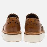 Мужские ботинки броги Grenson Archie Brogue Sole Rubber Tan фото- 4