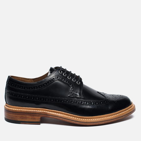Grenson Sid Long Wing Brogue Men's Shoes Black