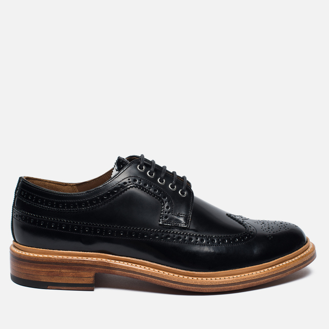 Мужские ботинки Grenson Sid Long Wing Brogue Black