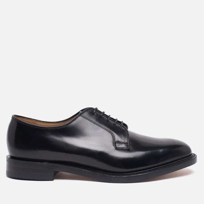 Мужские ботинки Loake Plain Derby Polished Black