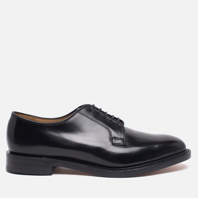 Loake Plain Derby Polished Men's Shoes Black