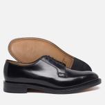 Loake Plain Derby Polished Men's Shoes Black photo- 2