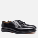 Мужские ботинки Loake Plain Derby Polished Black фото- 1